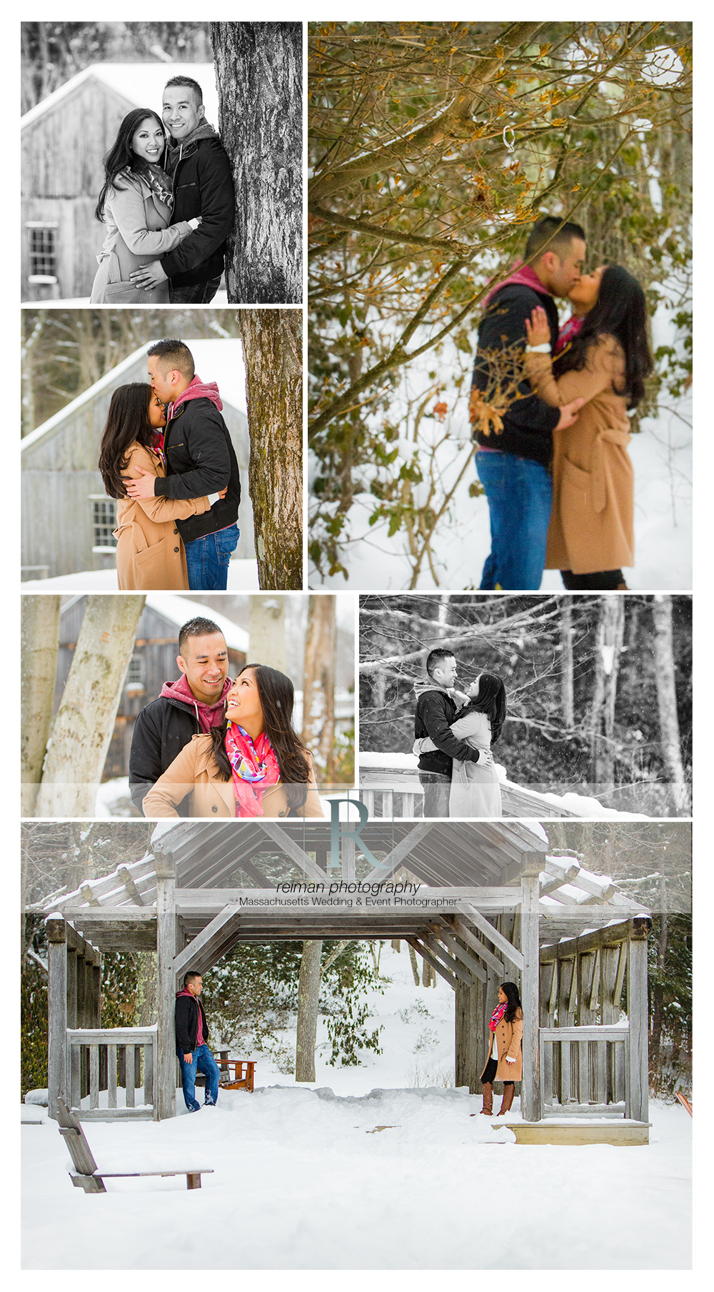 Winter Engagement At Moore State Park