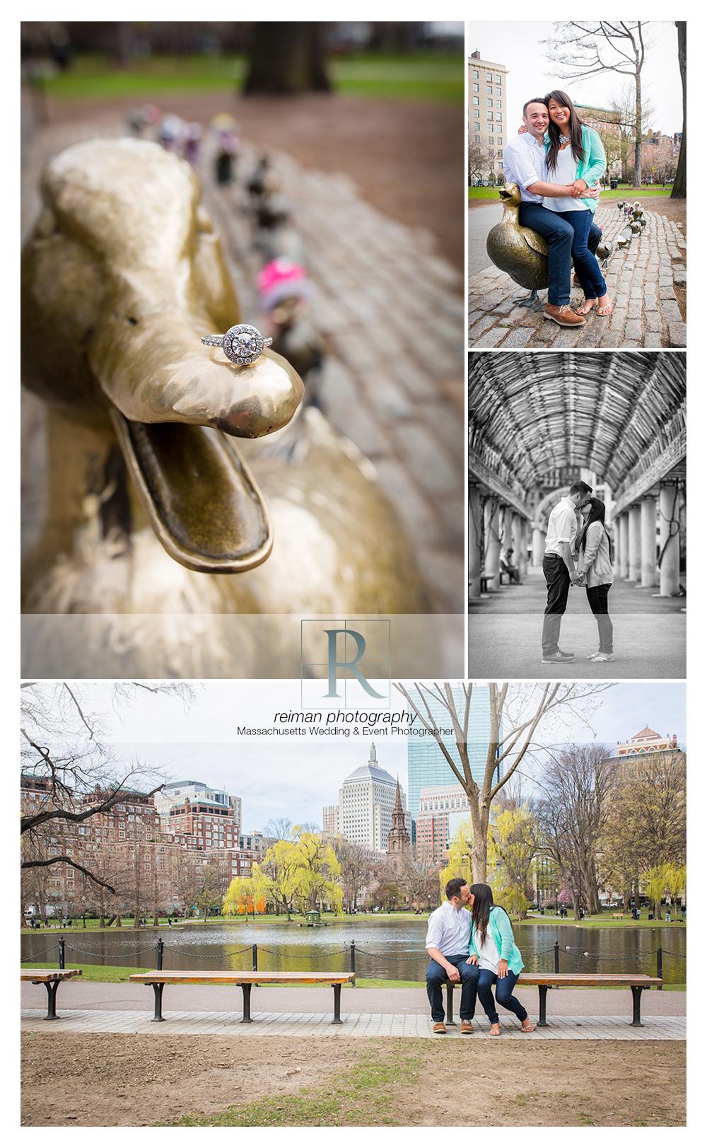 Public Garden, Engagement, Reiman Photography