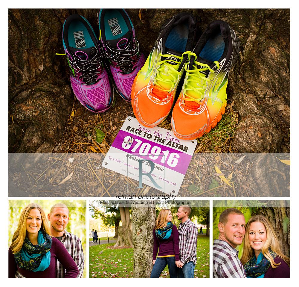 Reiman Photography, engagement, Boston Public Garden, Autumn, Fall, runner, purple