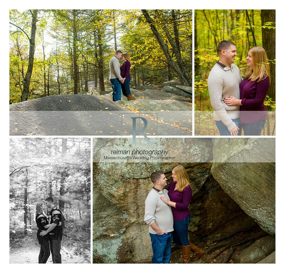 Purgatory Chasm, Engagement Session, Fall, Sutton, Reiman Photography