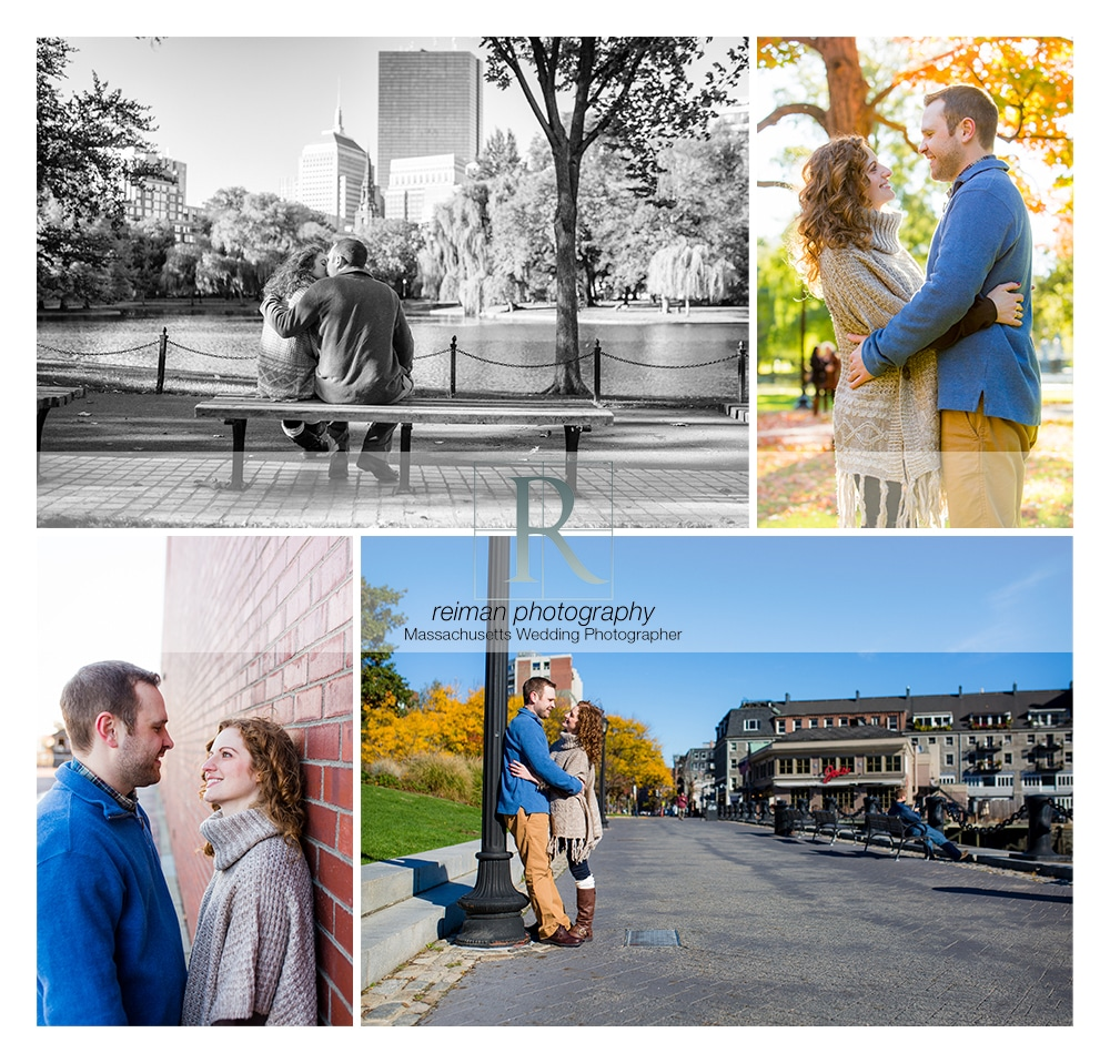 Boston, Engagement, Fall, Reiman Photography