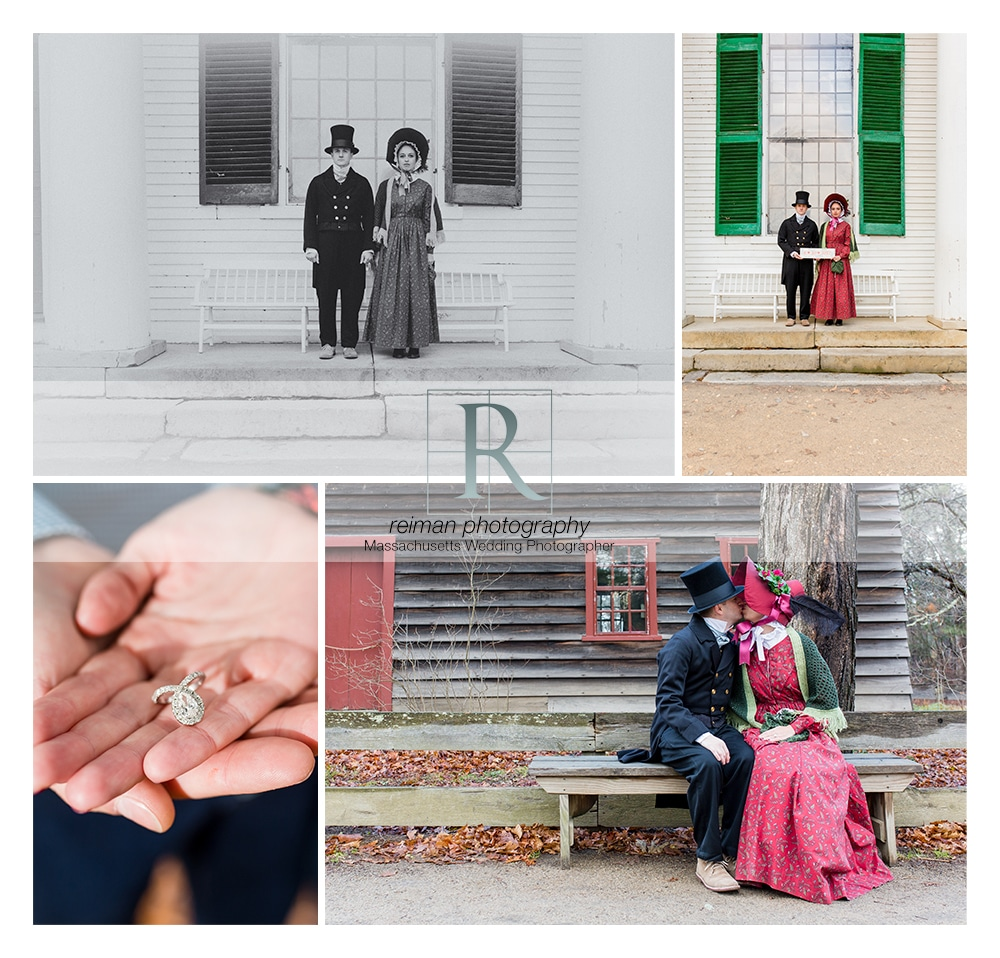 Old Sturbridge Village Engagement Session, Sturbridge, OSV, Reiman Photography