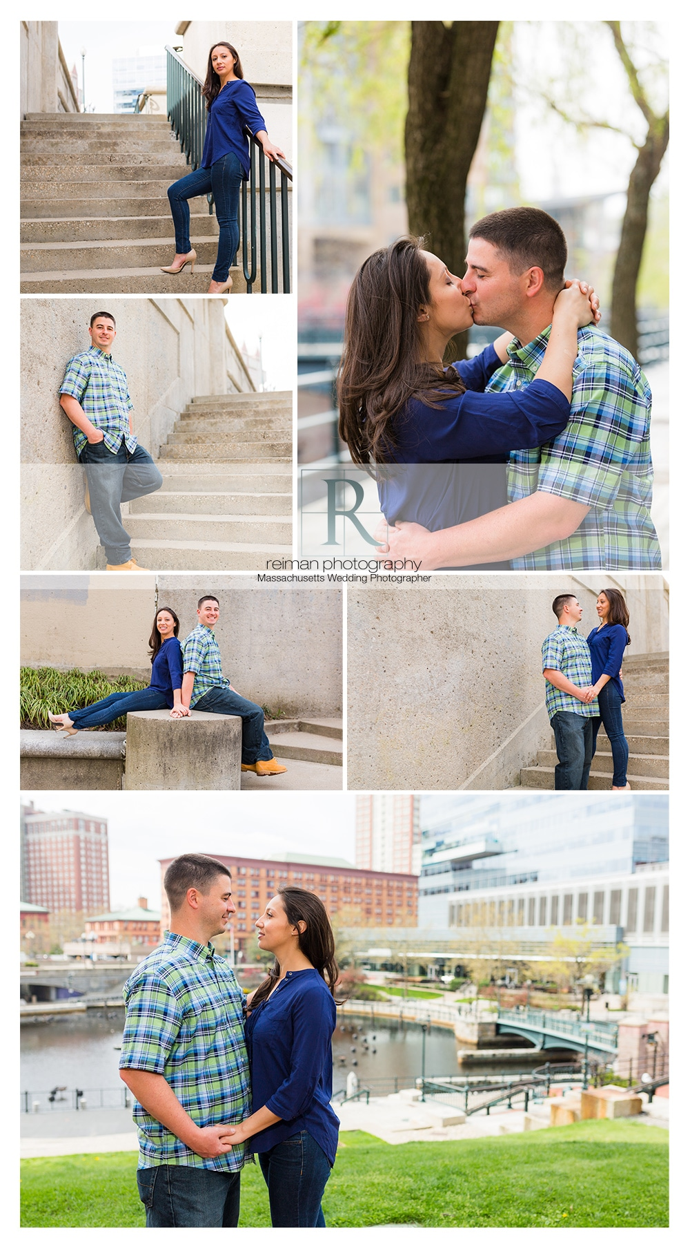 Waterplace Park Engagement, Providence, Rhode Island, Reiman Photography