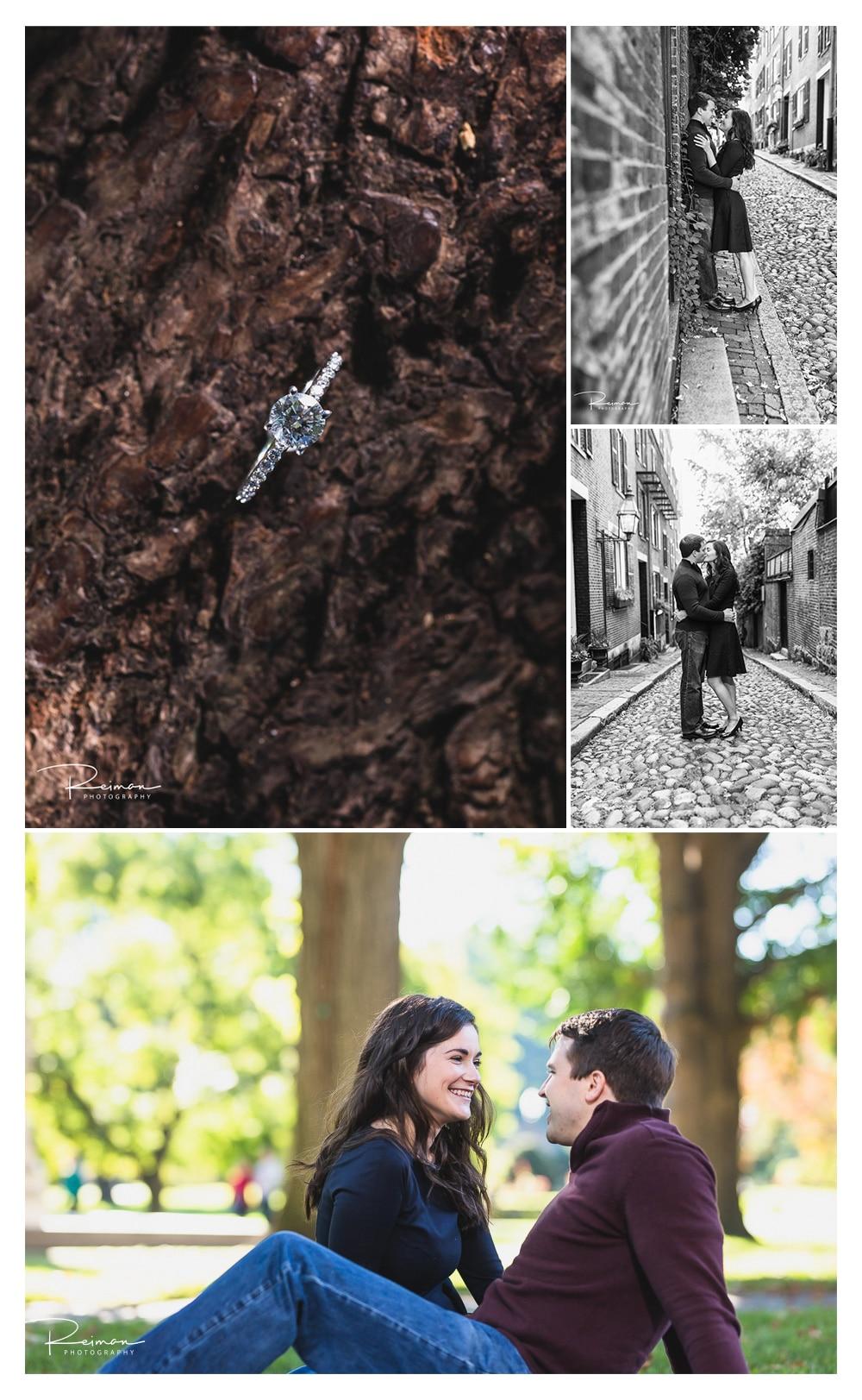 Boston Engagement Session, Fall, October, Reiman Photography, Acorn Street, Public Garden