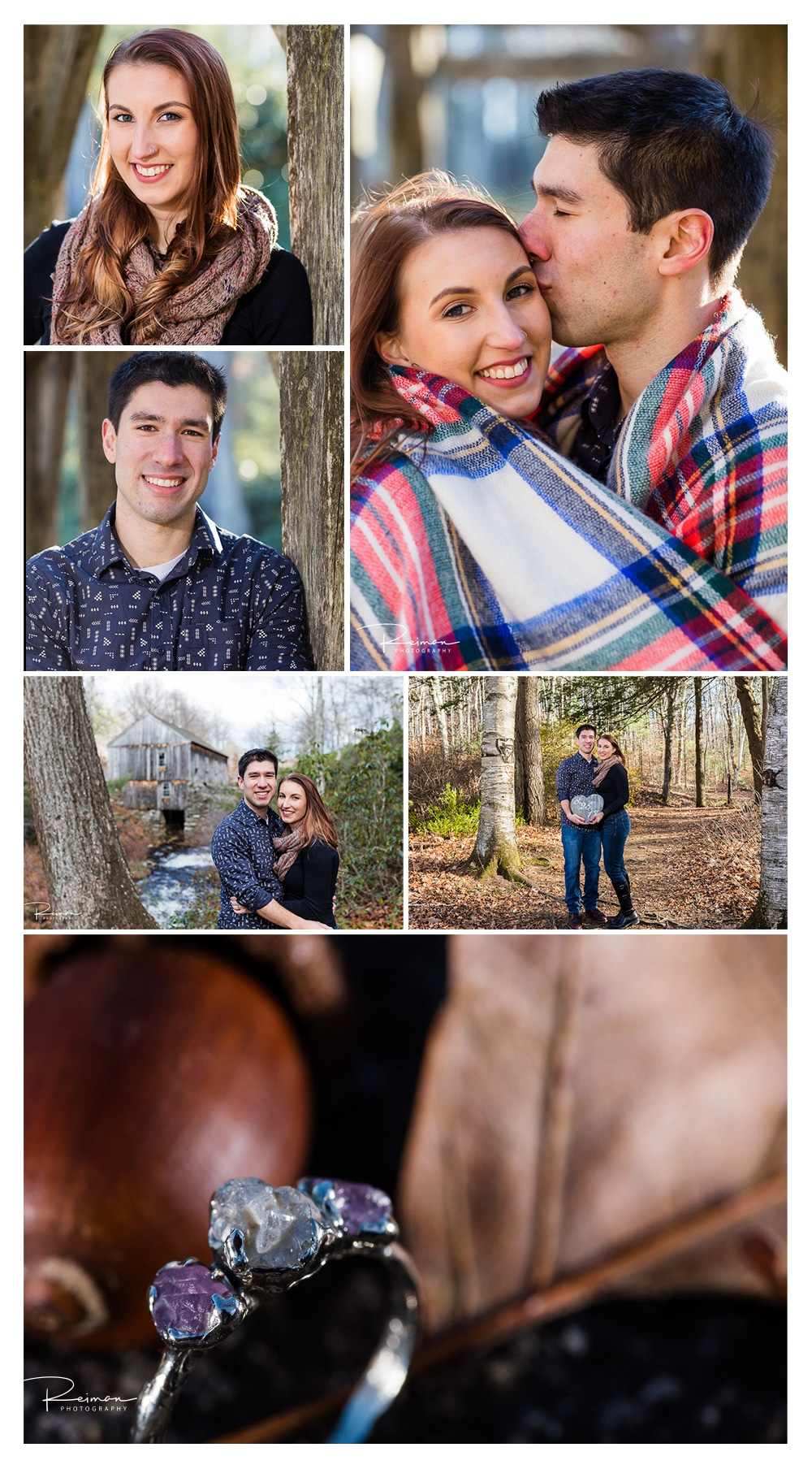 Moore State Park Engagement Session, November, Late Fall, Reiman Photography