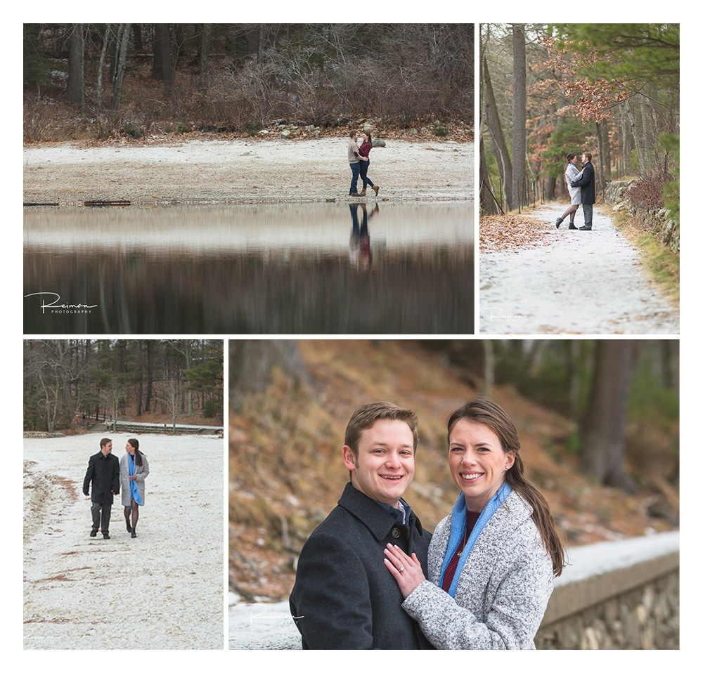 Walden Pond, Engagement Session, Reiman Photography, Concord, Massachusetts, December