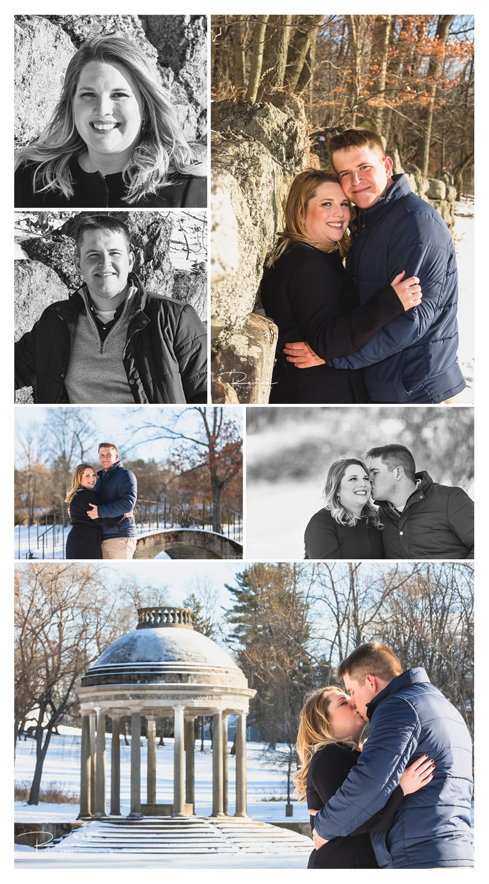 larz anderson park, Engagement Session, Reiman Photography, Winter