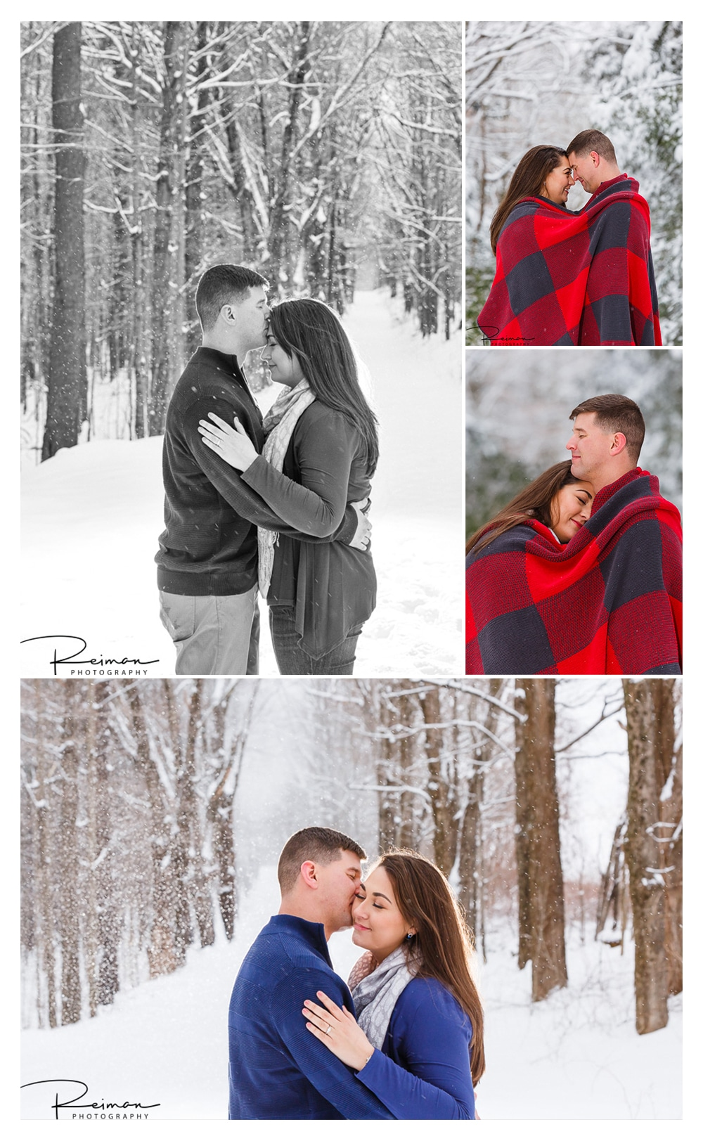 Winter, Engagement, Snow, Reiman Photography, Moore State Park