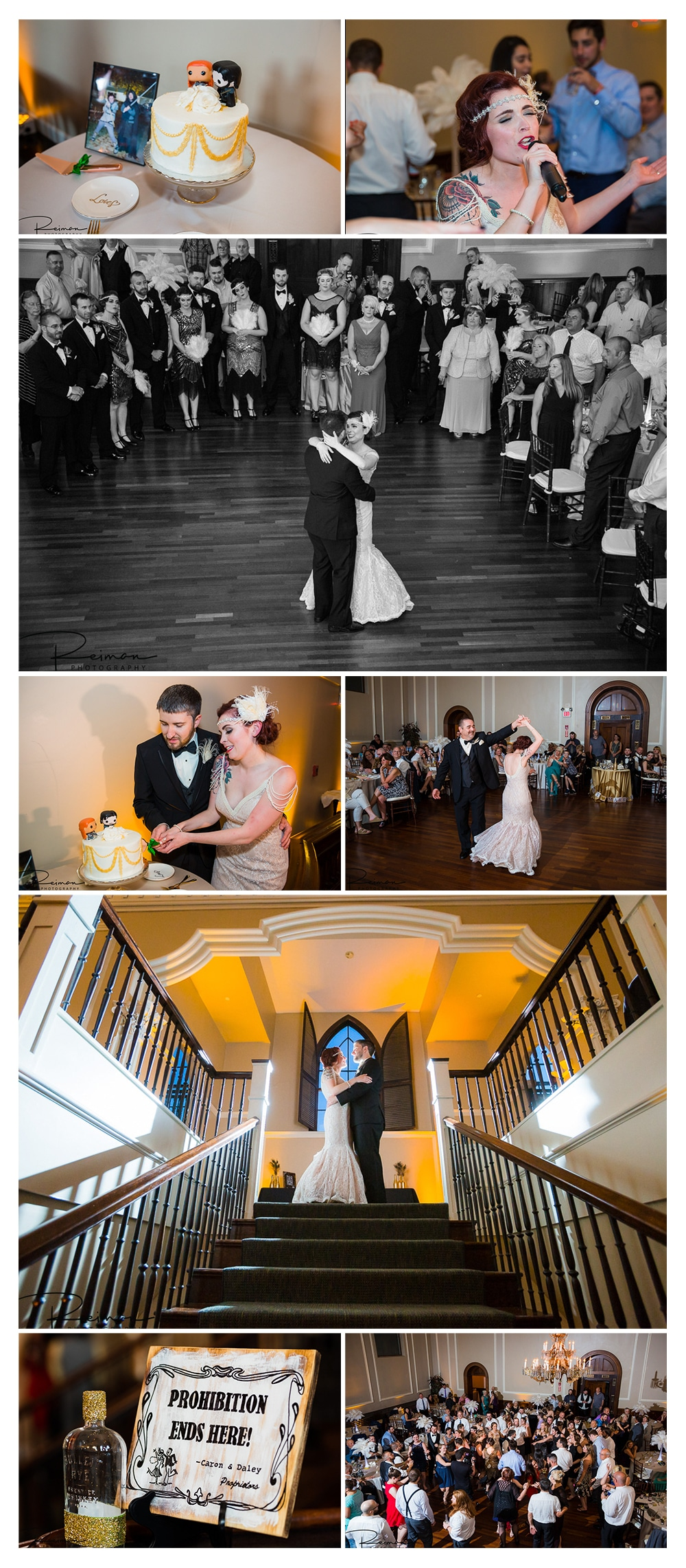 Colonial Hall at Rockafellas, Salem, Wedding, Reiman Photography, 1920's Inspired